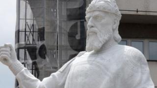 Откриват 6-метровия паметник на цар Самуил с държавни почести